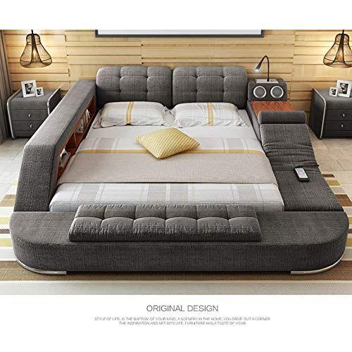 Tb024 Europe And America Hemp Fabric Soft Bed Frame Bedroom