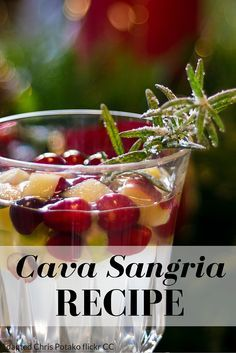 A delicious cava sangria recipe that is perfect for the holidays.