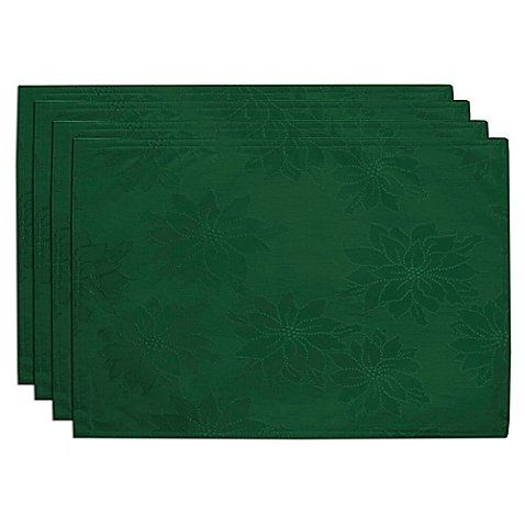 Bardwil Linens Winter Joy Placemats In Green Set Of 4 Click For Special Deals Diningsets Placemats Bed Bath And Beyond Bedding Shop