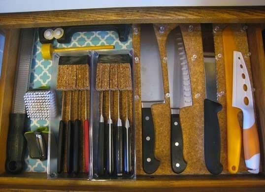 Diy Cork Knife Block Bundled Pieces Of Cork To Separate Knives