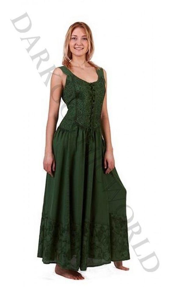 Goa Ethnic Hippie jurk 3265  Amazing medieval forest dress.