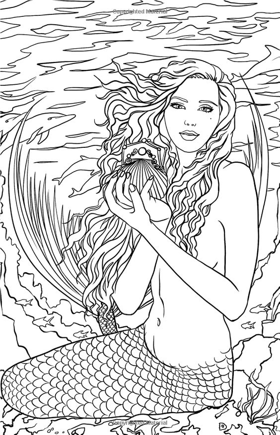 mermaid and fairy coloring pages - photo#45
