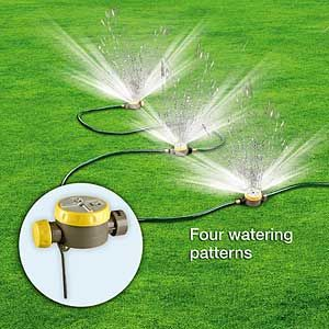 Customize Your Own Sprinkler System Includes Three Sprinkler Heads And Hose With Four Different