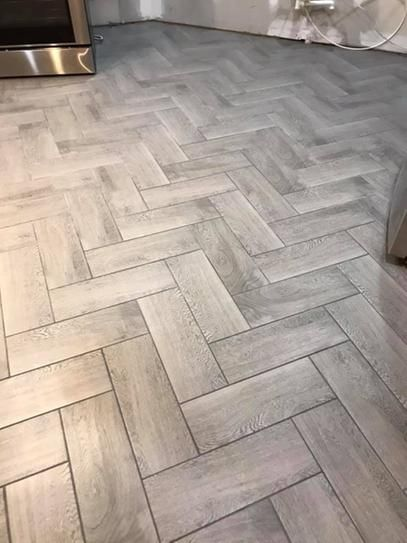 Trafficmaster Glenwood Fog 7 In X 20 In Ceramic Floor And Wall Tile 10 89 Sq Ft Case Gw09720hd1p2 The Home Depot Ceramic Floor Flooring Herringbone Tile Floors