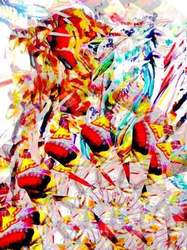 Quadro em pigmento mineral sobre canvas