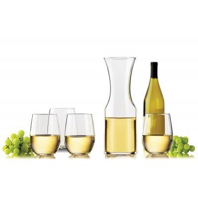 What a great offer this is, very useful and a nice way to serve your wine when you are entertaining a small group. https://www.hospitalitywholesale.com.au/shop/c/beverage-service/stemless-glassware/wine-glasses/stemless-wine-decanter-set/