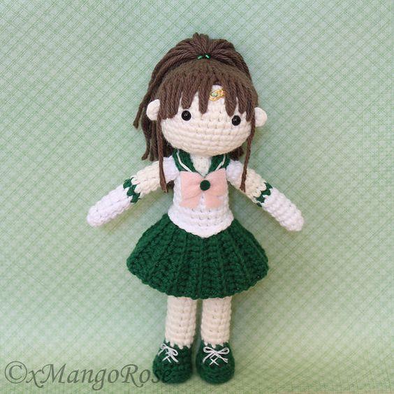Knitting Pattern For Sailor Doll : Sailor Jupiter amigurumi crochet doll pattern. Cute ...