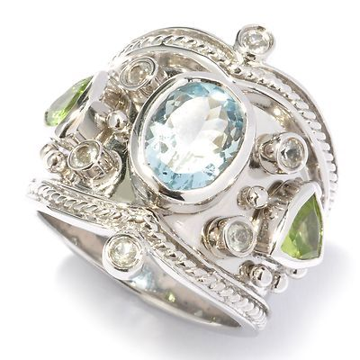Shop Nbc Dallas Prince Designs Multi Gemstone Etruscan Ring