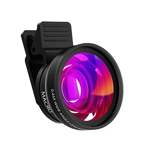 Phone Camera Lens Kit Hizek 12X Universal Optical Zoom Lens Marco Lens Focus Telescope with Clip and Eyecups for iPhone X//8//8Plus//7//7 Plus//6s//6//5 Samsung and Most Smartphones