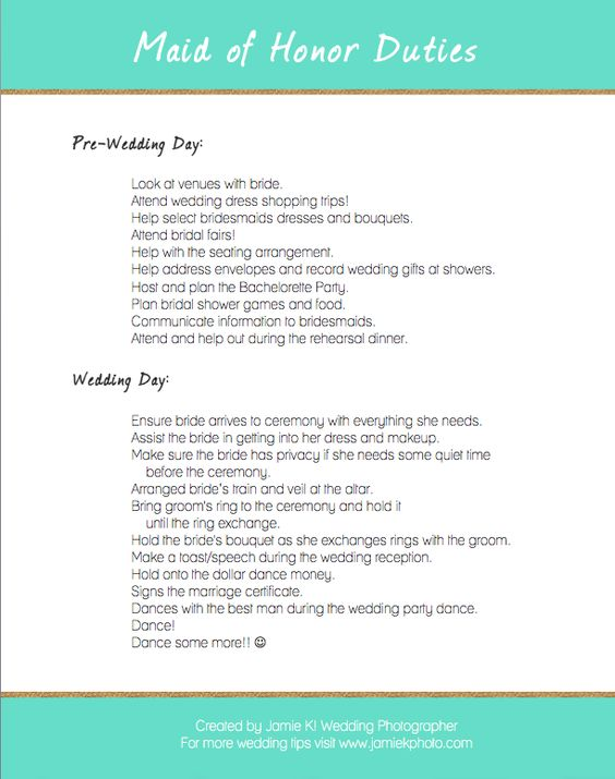 What does a Maid of Honor do? Here are a few things from my Maid ...