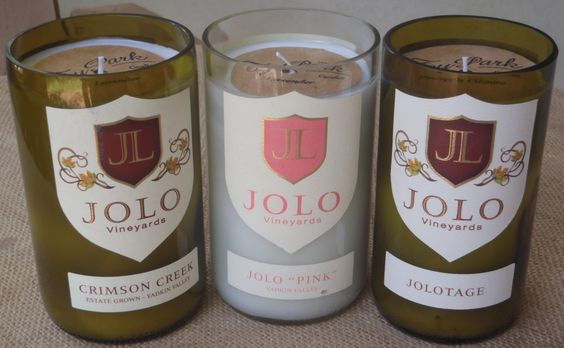 Authentic #recycled #wine #bottle #candles now available at @jolowinery in #North #Carolina by TyPark Candles.