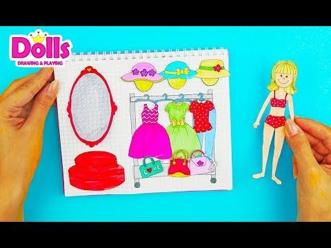 How To Make Dollhouse In Album For Paper Dolls Easy Papercrafts For Kids Youtube Easy Paper Crafts Barbie Dolls Diy Doll House