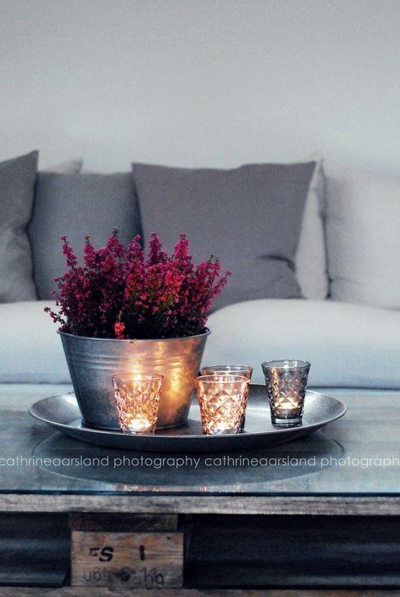 Herbst! Erika und Kerzen