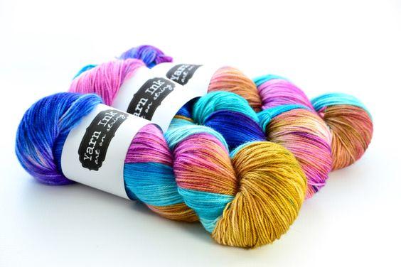 hand dyed yarn | STARDUST | MCN {fingering} by YarnInkstudio on Etsy https://www.etsy.com/listing/241239697/hand-dyed-yarn-ready-to-ship-stardust