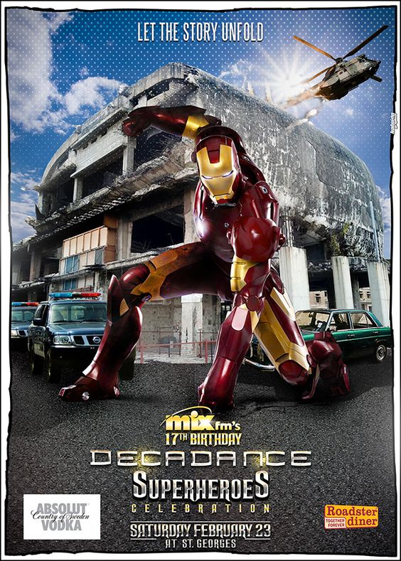 Decadance Superheroes Edition: Ironman in Beirut  Poster Design by Kaleido