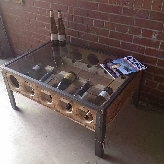 Wine Rack Coffee Table Sonder Mill Home Decor Furnishings
