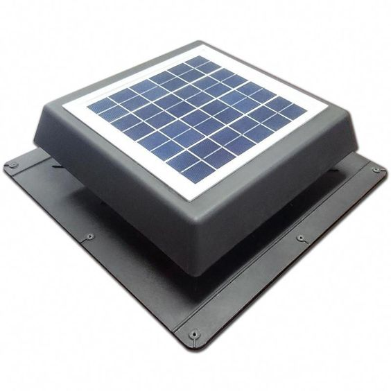 Find Acol 200mm Black Ezylite Solar Roof Vent Fan At Bunnings Needs Under Wave Venting For Max Effect 1m Mesh Are Solar Roof Vents Solar Roof Solar Attic Fan