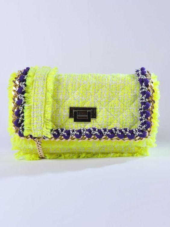 MSGM - Borsa tweed gialla | Di Pierro http://www.dipierrobrandstore.it/product/2450/Borsa-tweed-gialla.html