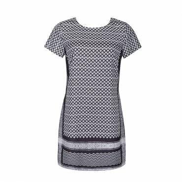 SCARF PRINT SHIFT DRESS