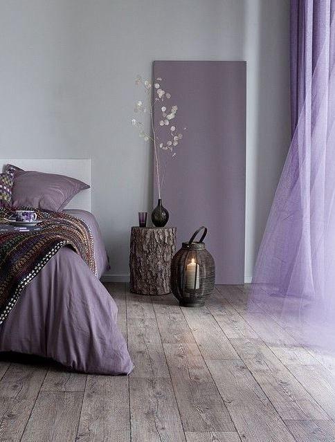 Slaapkamer Ideeen Lila.25 Attractive Purple Bedroom Design Ideas To Copy Paars