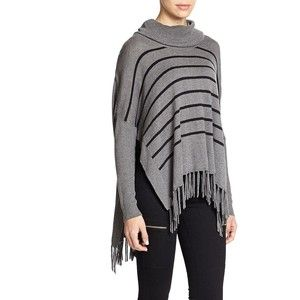 Madison Marcus Striped Turtleneck Poncho