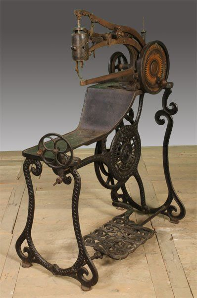 19th C. Cast Iron Sewing Machine for the Production of Shoes
