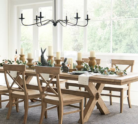 Toscana Extending Dining Table Seadrift Dining Room Decor Pottery Barn Dining Room Dining Room Design