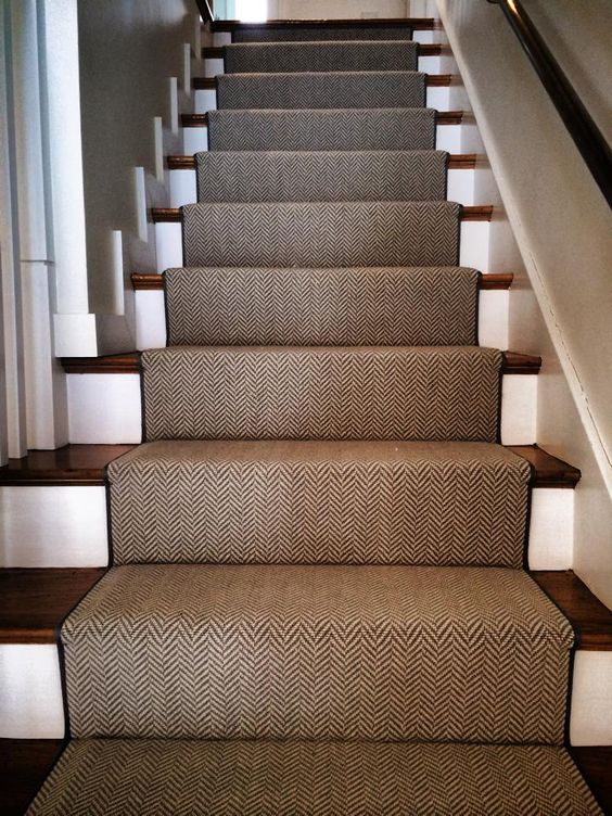 A Carpet Remnant Turned Into A Stair Runner Check Out