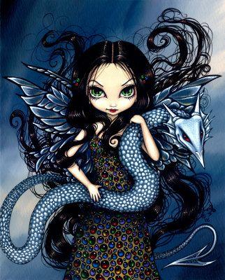 Jewele - a Jeweled Fairy with her Dragon
