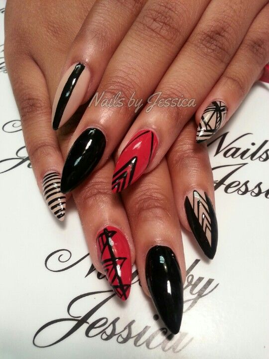 Nail designs on stiletto nails choice image nail art and nail design for pointed nails image collections nail art and nail nail design for pointed nails image prinsesfo Gallery