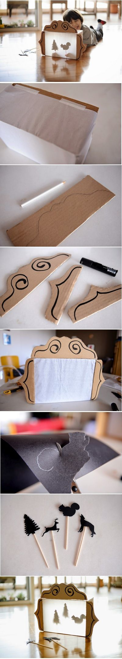 DIY Shadow puppet theater: