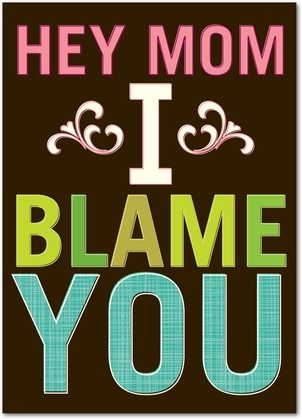 I Blame You - Mother's Day Greeting Cards - Hello Little One - Coffee - Brown : Front