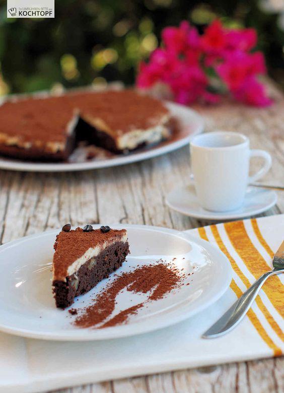 Zum International Coffee Day gibt's ein JURA Premium Espresso-Schokoladen-Bronwie-Kuchen!