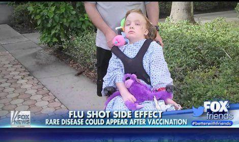 Schwere Schädigung durch Grippeimpfung: Am 20. November 2013 hatte die 9-jährige MarySue Grivna aus Tampa, Florida eine Grippeimpfung bekommen. Innerhalb