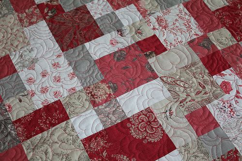Valentine Quilt using French General Fabric, Barbara Cain