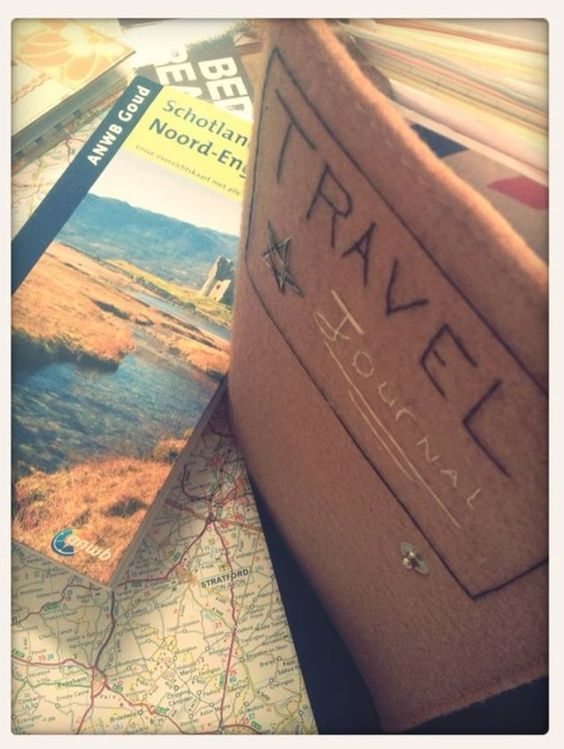 I want to make one of these again and just drive, write and see more things #travel #journal #diy