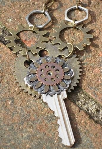 Industrialish Key Pendants (photo heavy-ish) - JEWELRY AND TRINKETS