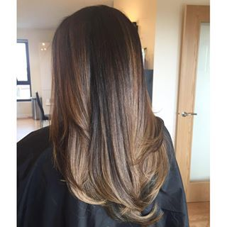 asian balayage straight hair caramel