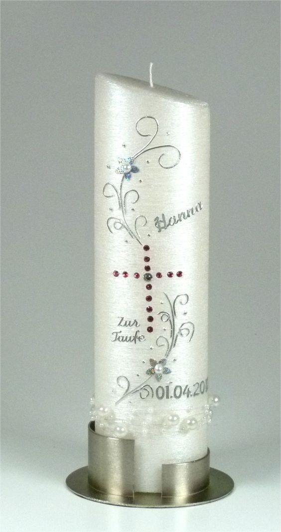 Taufkerze modern silber 1045 ideja pinterest for Osterkerzen modern