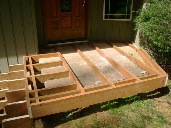 Floating Framing Over Concrete Steps Exterior