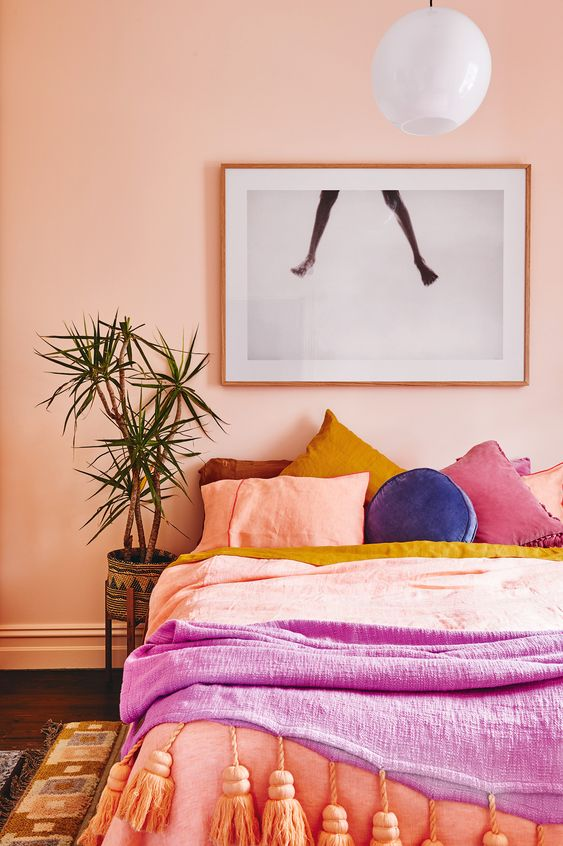 Kombinasi Warna Cat Kamar Pink Salem 15