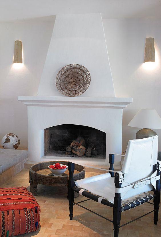 Cala Moli Home Fireplace Interior Interior Vignette