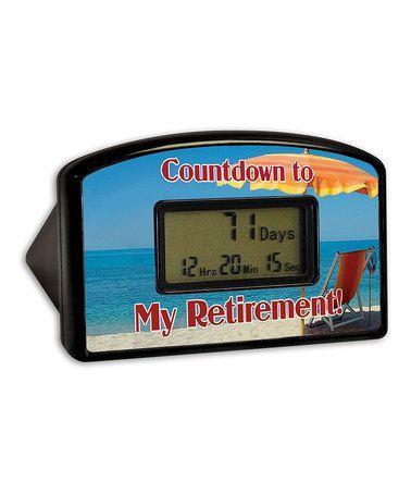 Loving this Beach Retirement Countdown Timer on #zulily! #zulilyfinds