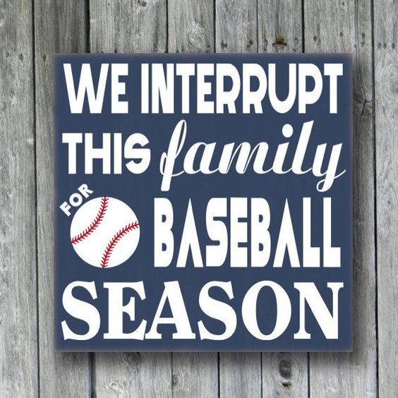We Interrupt This Family For Baseball Season. Hand Painted
