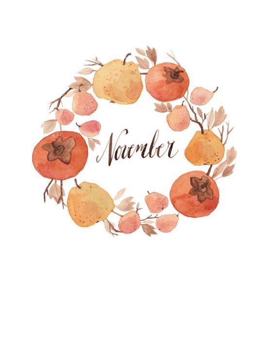 November Wreath 8.5x11