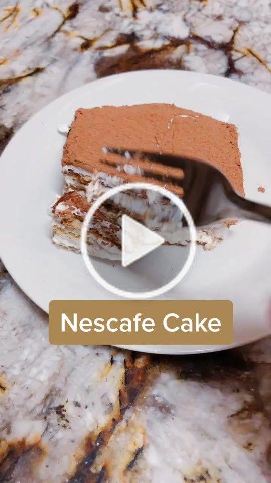 Diana Dedea912 On Tiktok Nescafe Cake Only 4 Ingredients Tiktokarab Dessert Nescafe Fyp Tiramisu Iftar Ramad Clean Dessert Desserts Dessert Recipes