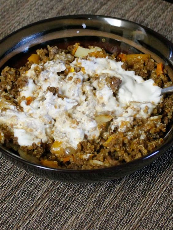 Mexican Ground Beef Quinoa Skillet   Recipe   Ground Beef, Mexicans ...