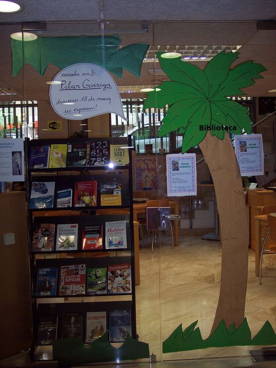 Una selva a la biblioteca.