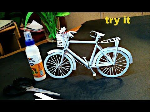 How To Make A Paper Cycle Diy Simple Paper Craft Youtube