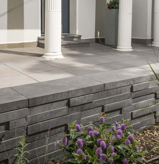 Basalo Schichtmauer In Basaltgrau Mauer Gartengestaltung Garten